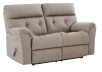 Brown-Grey Reclining Upholstered Loveseat - ELRAN product photo other01 S