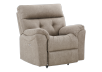 Brown-Grey Reclining, Rocking and Motorized Upholstered Armchair - ELRAN product photo other01 S