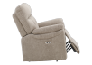 Brown-Grey Reclining, Rocking and Motorized Upholstered Armchair - ELRAN product photo other03 S