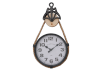 Metal and Rope Clock product photo