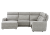 Grey Reclining and Motorized Upholstered Sectional Sofa with Adjustable Headrests - ELRAN product photo other02 S