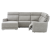 Grey Reclining and Motorized Upholstered Sectional Sofa with Adjustable Headrests - ELRAN product photo other03 S