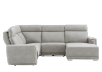 Grey Reclining and Motorized Upholstered Sectional Sofa with Adjustable Headrests - ELRAN product photo other11 S