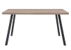 Brown Table with Metal Legs product photo