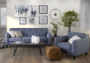 Blue Upholstered Sofa product photo other07 S