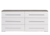 White and Grey 6-Drawer Dresser product photo