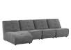 Dark Grey Upholstered Modular Sectional Sofa product photo other01 S