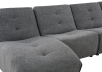 Dark Grey Upholstered Modular Sectional Sofa product photo other03 S