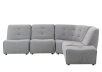 Grey Upholstered Modular Sectional Sofa product photo
