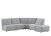 Grey Upholstered Modular Sectional Sofa product photo other01 S