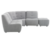 Grey Upholstered Modular Sectional Sofa product photo other02 S