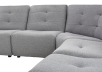 Grey Upholstered Modular Sectional Sofa product photo other03 S