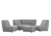 Grey Upholstered Modular Sectional Sofa product photo other07 S