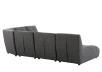 Dark Grey Upholstered Modular Sectional Sofa product photo other05 S