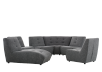 Dark Grey Upholstered Modular Sectional Sofa product photo other07 S