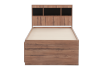 Brown Twin Kid Drawer and Storage Bed product photo other07 S