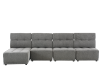 Grey Upholstered Modular Sectional Sofa with Adjustable Backrests and Headrests product photo