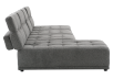 Grey Upholstered Modular Sectional Sofa with Adjustable Backrests and Headrests product photo other03 S