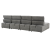 Grey Upholstered Modular Sectional Sofa with Adjustable Backrests and Headrests product photo other06 S
