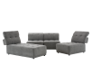 Grey Upholstered Modular Sectional Sofa with Adjustable Backrests and Headrests product photo other08 S