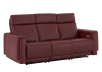 Red Reclining and Battery Motorized Sofa with Genuine Leather Seats - ELRAN product photo other01 S