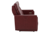 Red Reclining and Battery Motorized Sofa with Genuine Leather Seats - ELRAN product photo other02 S