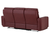 Red Reclining and Battery Motorized Sofa with Genuine Leather Seats - ELRAN product photo other08 S