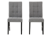 Set of 2 Chairs with Grey Upholstered Seats product photo