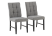 Set of 2 Chairs with Grey Upholstered Seats product photo other01 S