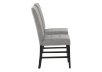 Set of 2 Chairs with Grey Upholstered Seats product photo other02 S