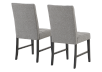 Set of 2 Chairs with Grey Upholstered Seats product photo other03 S