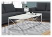White Coffee Table with Metal Legs product photo other04 S