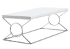White Coffee Table with Metal Legs product photo