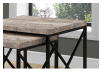 Brown Grey End Table with Black Metal Legs Set product photo other01 S