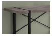 Dark Brown Grey Desk with Black Metal Legs product photo other01 S