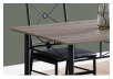 Dark Brown Grey Kitchen Room Furniture with Black Metal Legs product photo other01 S