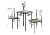 Dark Brown Kitchen Room Furniture with Silver Grey Metal Legs product photo