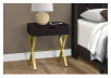 Dark Brown Accent Table with Golden Yellow Metal Legs product photo other01 S