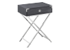 Grey Accent Table with Silver Grey Metal Legs product photo