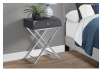 Grey Accent Table with Silver Grey Metal Legs product photo other01 S