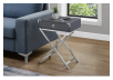 Grey Accent Table with Silver Grey Metal Legs product photo other04 S