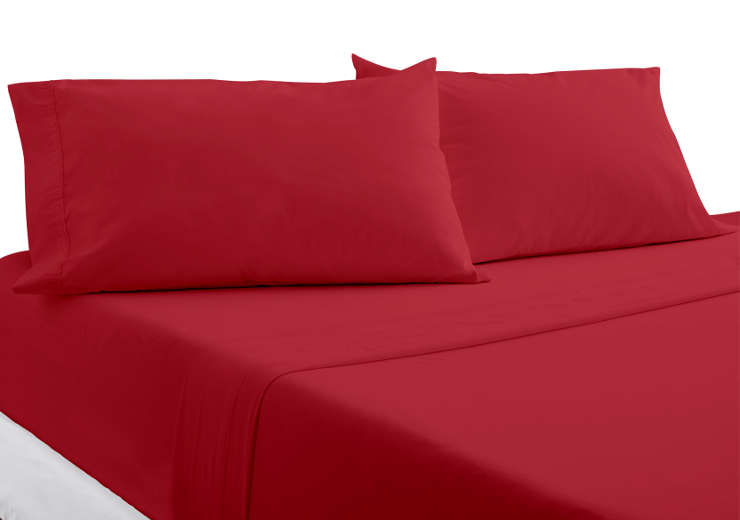 Ensemble de draps rouge - 2 places Double photo du produit