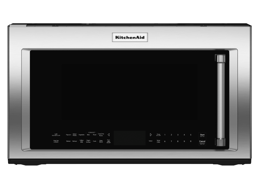Micro-ondes avec hotte KitchenAid - YKMHC319ES photo du produit Front View L