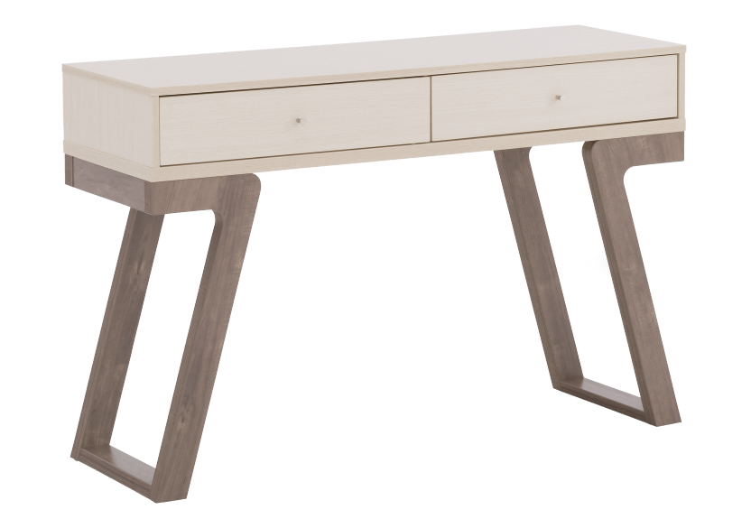 Table console en bois brun et ivoire photo du produit other01 L
