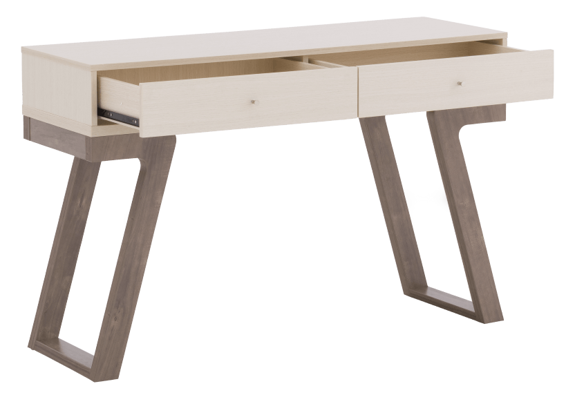 Table console en bois brun et ivoire photo du produit other02 L