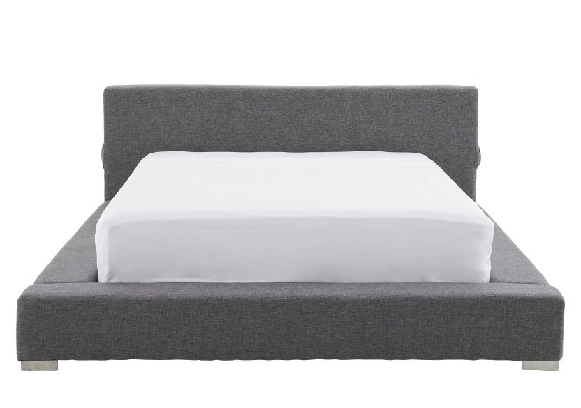 Lit en tissu gris - Grand lit Queen photo du produit Front View L