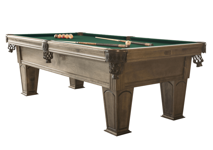 Table de billard en merisier brun-gris avec tapis vert photo du produit other01 L