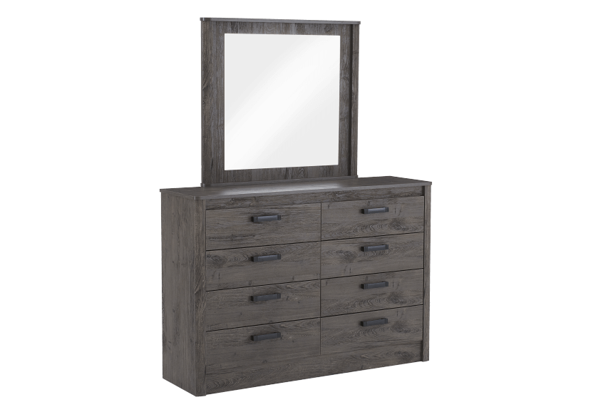Mobilier de chambre à coucher brun-gris - Grand lit Queen photo du produit other02 L