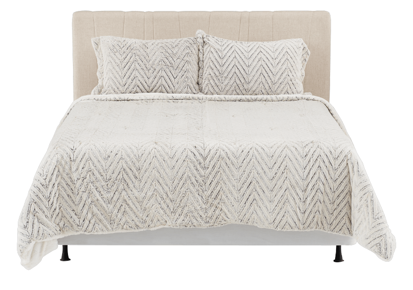 Ensemble de douillette gris-beige - Grand lit Queen photo du produit other02 L