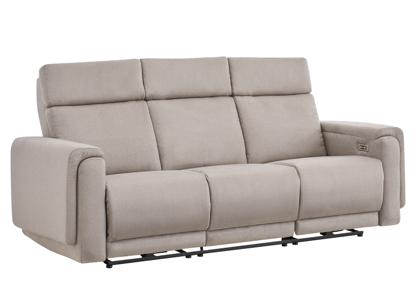Divan inclinable et motorisé en tissu beige - ELRAN photo du produit other01 L